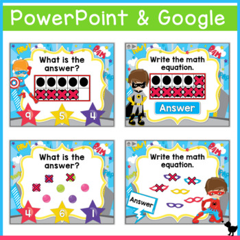 Subtraction Within 10 PowerPoint and Smartboard