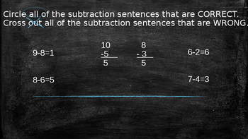 Subtraction 0-10 Review