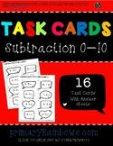 Subtraction 0-10 Task Cards (Kindergarten, first grade)