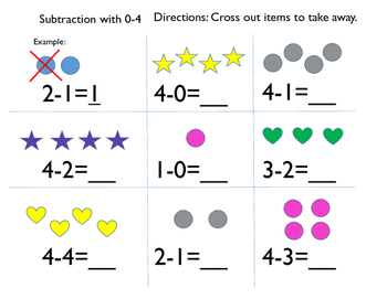 Simple Subtraction With 0-5 Workbook