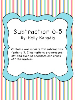 Subtraction 0-5 Packet