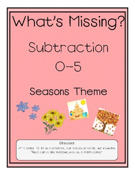 Subtraction 0-5 Seasons Theme