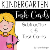 Subtraction 0-5 Task Cards