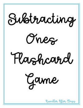 Subtraction 1-10 Flash Card Game