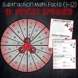 Subtraction (1-12) Fidget Spinner Game