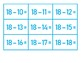 Subtraction 1-18 Flash Cards for BONGO