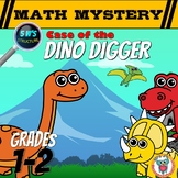 Subtraction (1-20) Math Mystery: Case of the Dino Digger 5 W's Format