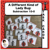 Subtraction 10-0  Ladybugs Task Cards and Walk About Activity