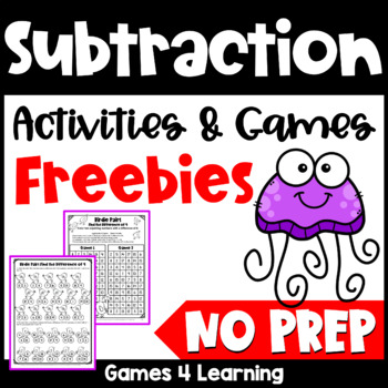 Subtraction Free NO PREP Subtraction Games