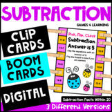 Subtraction Activity: Pick, Flip Check Cards for Subtraction Facts Fluency