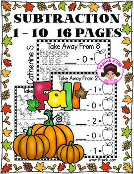 Subtraction Worksheets - Fall