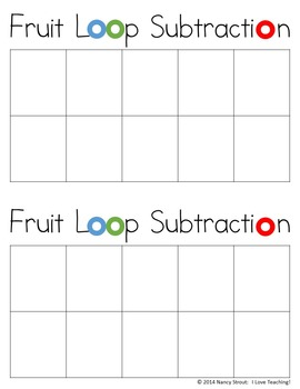 Math Subtraction For K and First Grade Printables and Task Cards