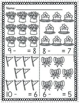 Subtraction Worksheets - St. Patrick's Day