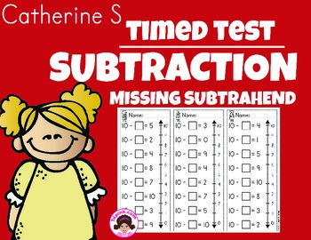 Missing Subtrahends Worksheets