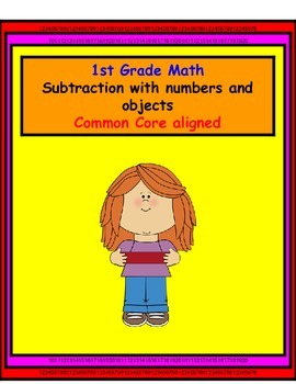 1st Grade Math, Subtraction with numbers and objects.