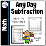 Subtraction Worksheets (Single Digit) Printable Distance Learning