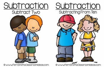 Subtraction Math Centers Six Quick & Easy to Prep Subtraction Center Game Bundle