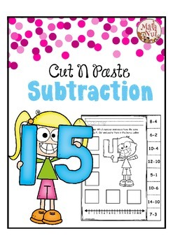 Subtraction Practice using Numbers 0 to 20