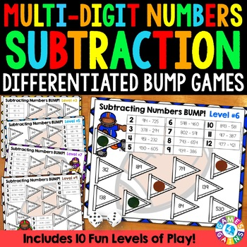 Subtraction Game: 10 Differentiated Subtracting Multi-Digi