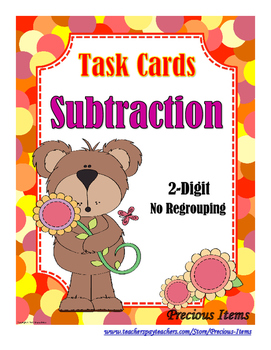 Subtraction 2-Digit No Regrouping Task Cards