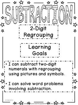 Subtraction 2-Digit Regrouping Student Workbook