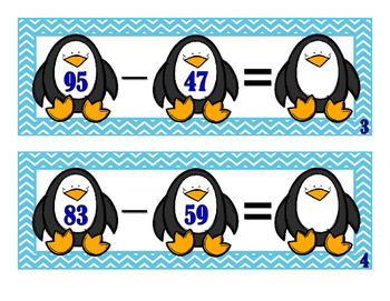 Subtraction 2-Digit With Regrouping Activity Cards