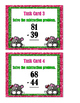 Subtraction 2-Digit With & Without Regrouping Task Cards
