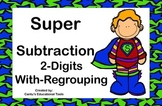 Subtraction 2 Digit with Regrouping Task Cards
