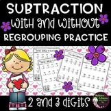 Subtraction- 2 and 3 digit with and without regrouping  Practice