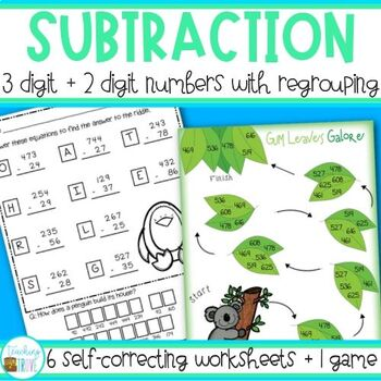 Subtraction - 2 and 3 digit with regrouping