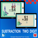 Subtraction 2 digit 2digit two digit with without Regroupi
