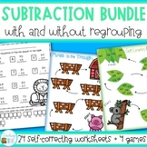 Subtraction with and without regrouping Worksheets and Games