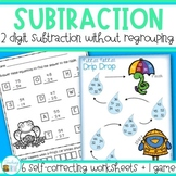 Two digit subtraction without regrouping Worksheets and Game