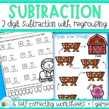 Subtraction - 2 digit with regrouping