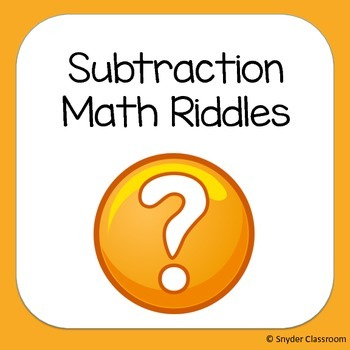 Subtraction Math Riddles