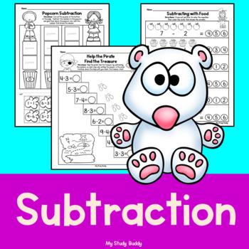 Subtraction Worksheets (Kindergarten)