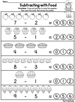 Subtraction Worksheets Within 10 (Kindergarten Math ...