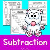 Subtraction Worksheets Within 10 (Kindergarten Math, Subtraction Practice)