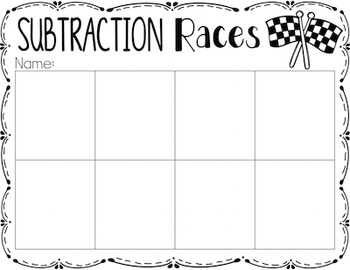 Subtraction {A Math Center Activity}
