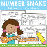 Subtraction - Count Back Snake Worksheets