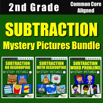 Subtraction Mystery Pictures, 2nd Grade Homework / 2nd Gra