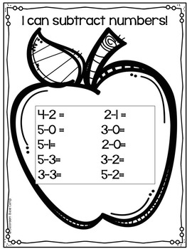 Simple Subtraction Worksheets