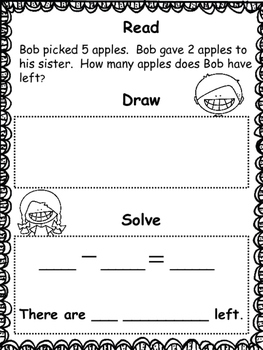 Subtraction: Read, Draw and Solve