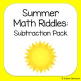 Summer Subtraction Math Riddles