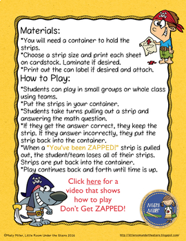 Subtraction 3 Digit with Borrowing Don't Get ZAPPED Math Game