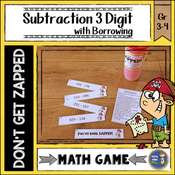 Subtraction 3 Digit with Borrowing ZAP Math Game