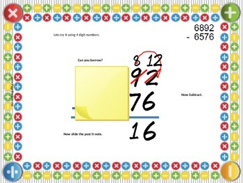 Subtraction 3 and 4 Digits Strategies for Success with Student Worksheet