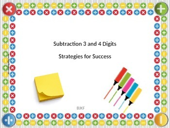 Subtraction 3 and 4 Digits Strategies for Success with Stu