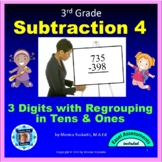 Common Core 3rd - Subtraction 4 - 3 Digits w Regrouping in