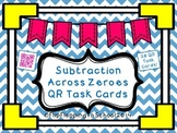 Subtraction Across Zereos QR Math Task Cards